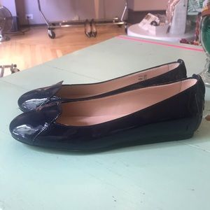 Tod's Patent Leather Navy Blue Loafer